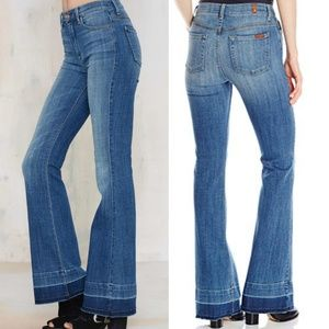 7 FOR ALL MANKIND Ginger Wide Leg Released Hem 28